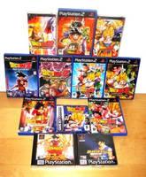 My Dragonball Z games by Nick-Kazama