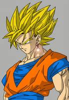 Super Saiyan 2 Goku by Nick-Kazama