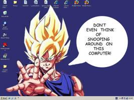 Goku Desktop by Nick-Kazama