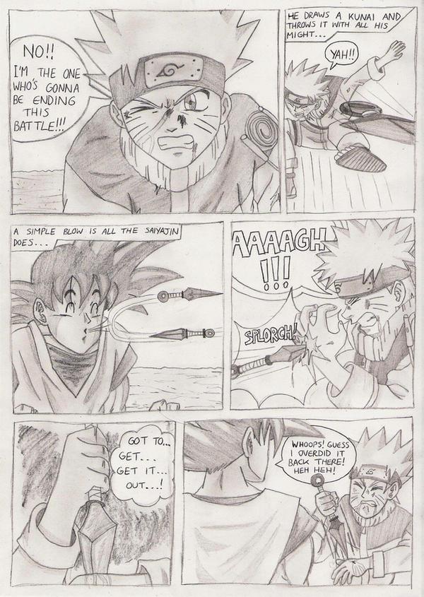 Goku Vs Naruto Drawing