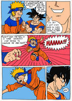 Goku vs Naruto page 1 Redone by Nick-Kazama