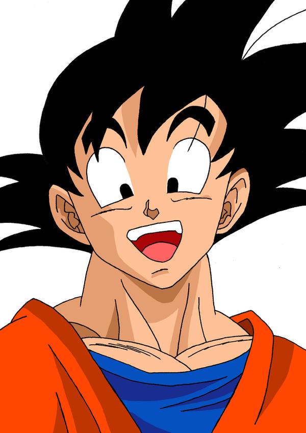 Goku happy face