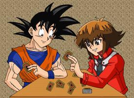 Goku and Jaden by Nick-Kazama