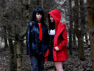 Little Red Riding Hood and Wolf by xAxRikkudouCosplay