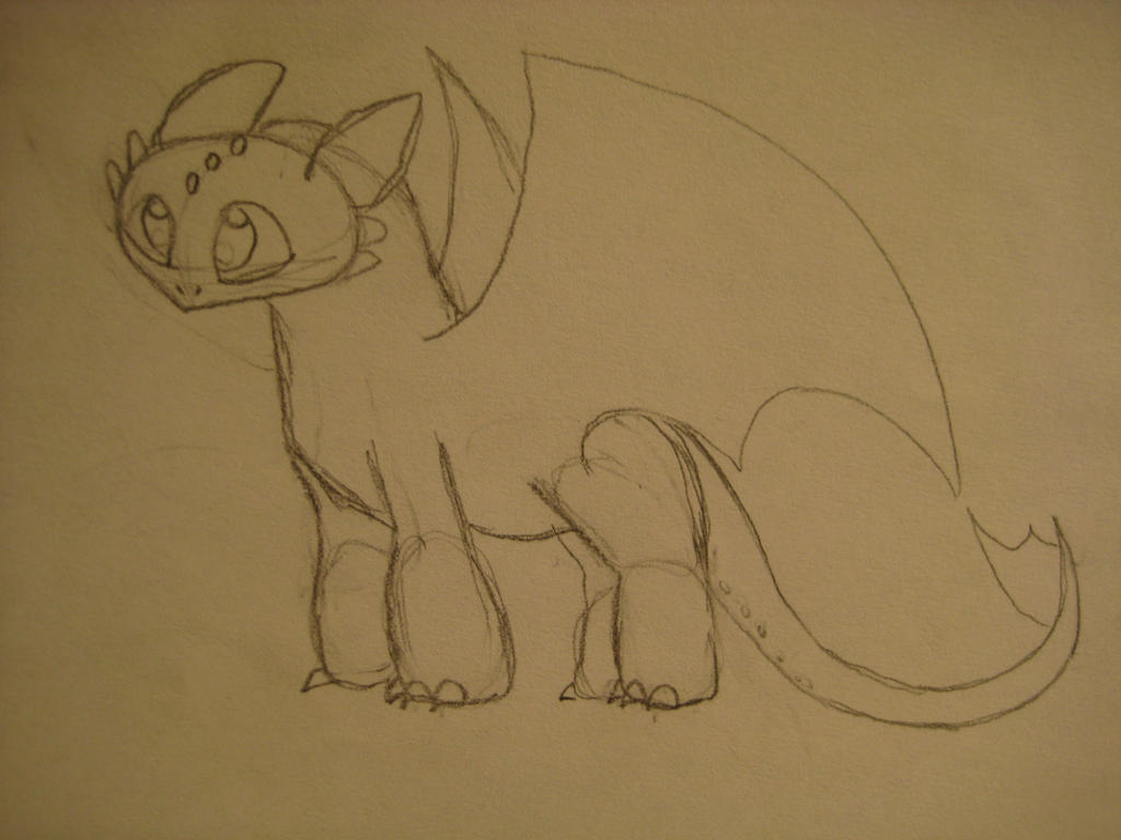 how to draw toothless easy