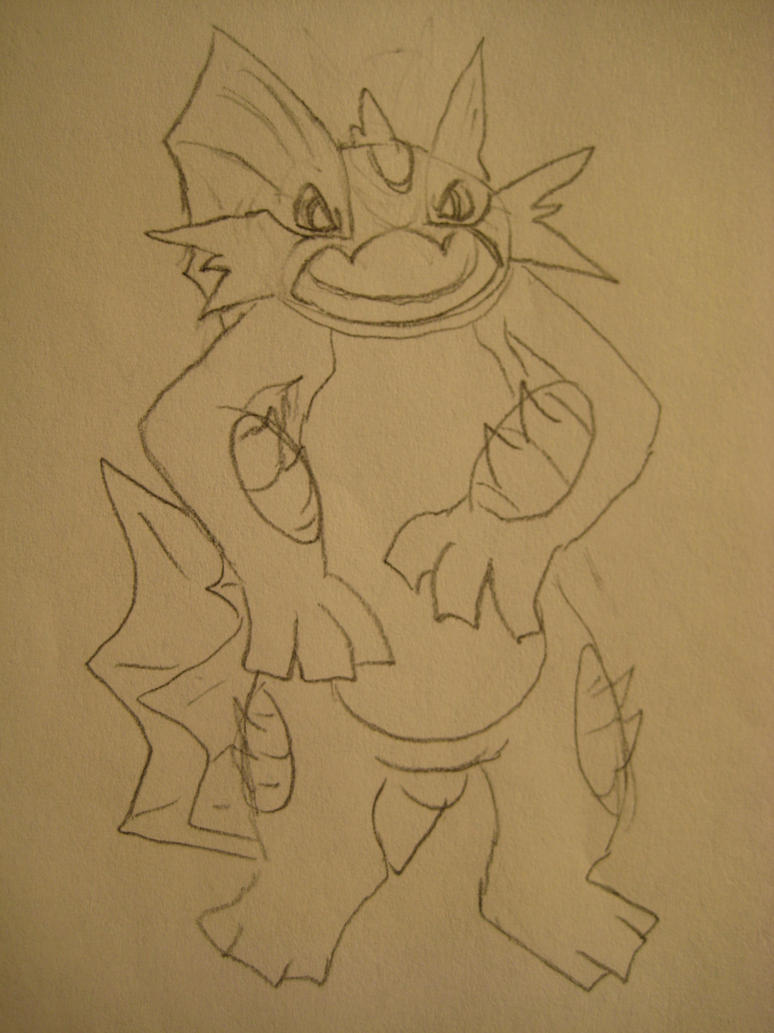 Mega Swampert Concept Sketch by GECKO-Nuzlockes