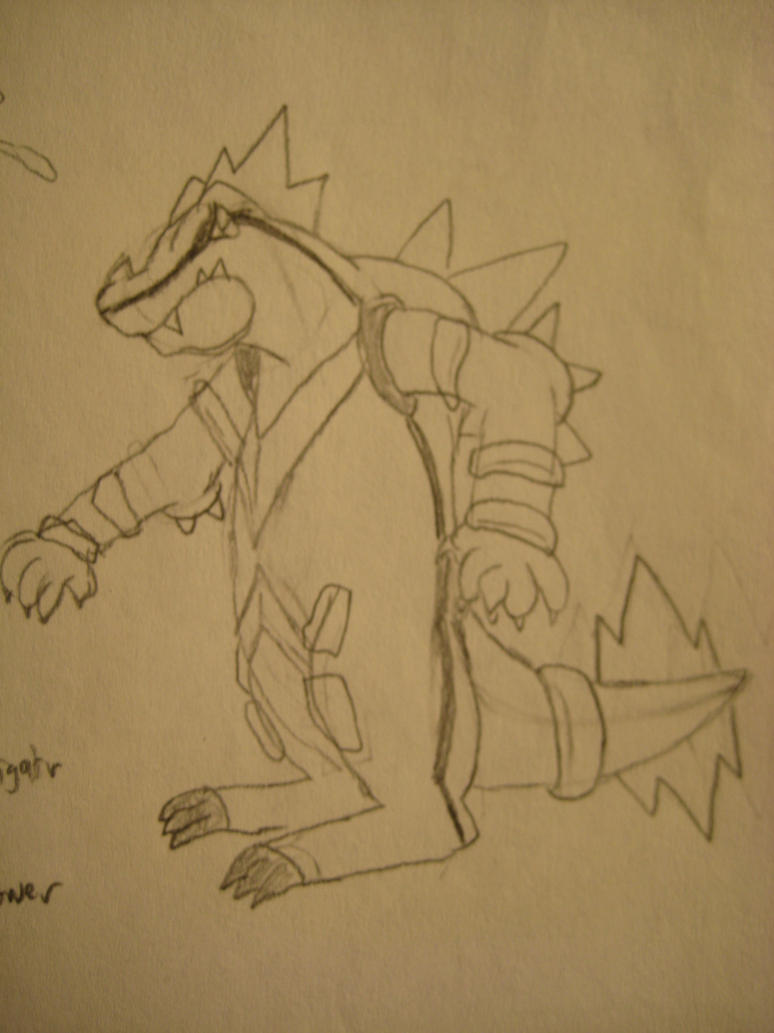 Mega Feraligatr Concept Sketch by GECKO-Nuzlockes