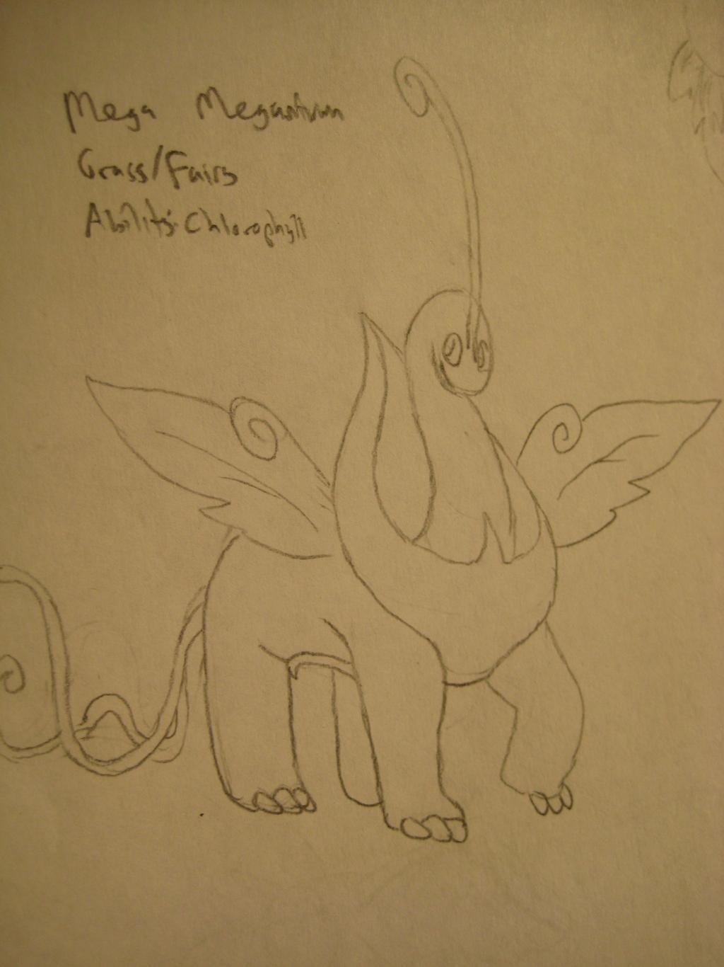 Mega Meganium Concept Sketch by GECKO-Nuzlockes
