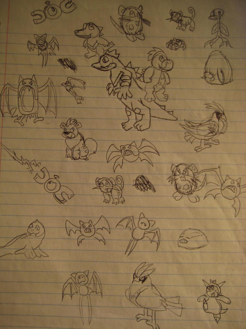 Pokemon Sketch Dump by GECKO-Nuzlockes