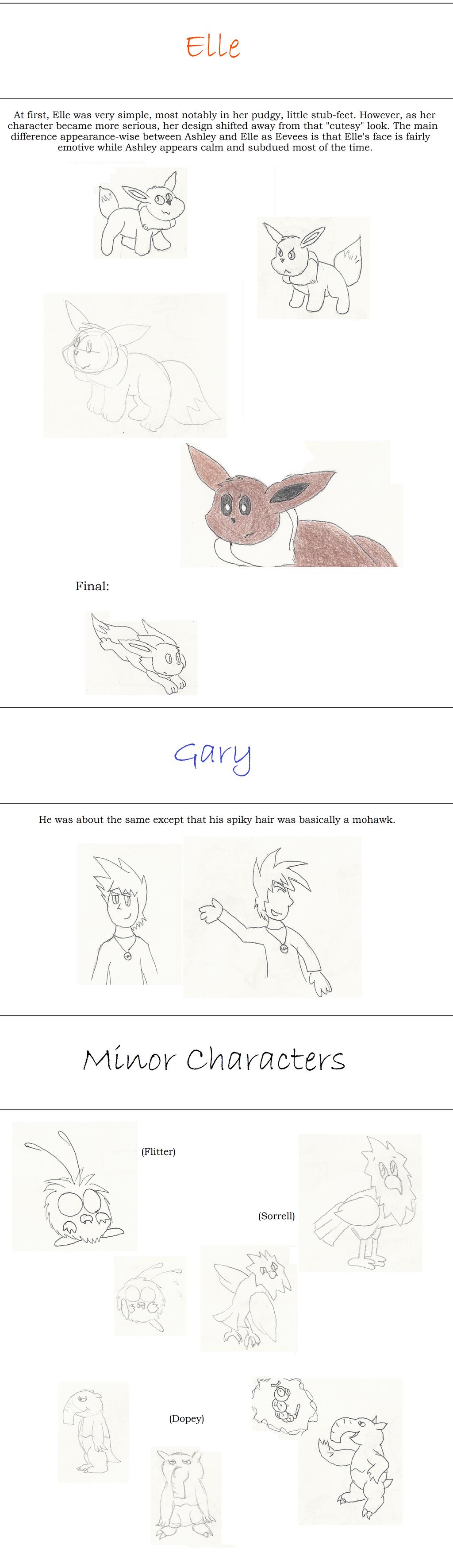 Skyward Concept Art: Elle/Gary/MinorChars by GECKO-Nuzlockes