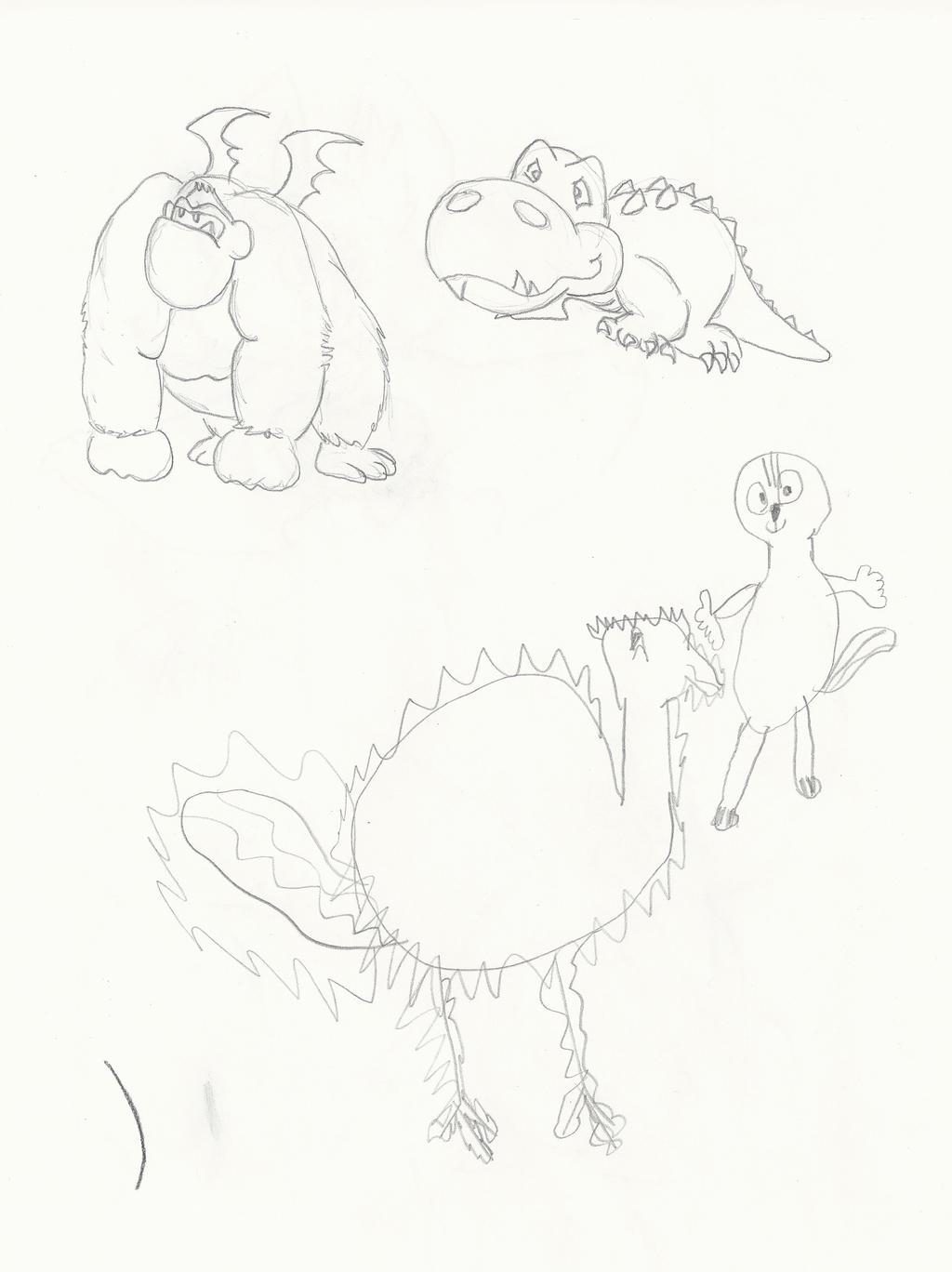 Animal Fusions - Sister Art Collab! by GECKO-Nuzlockes