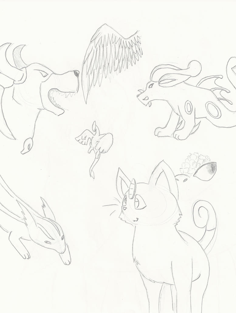 (Mostly) Pokemon Sketches by GECKO-Nuzlockes