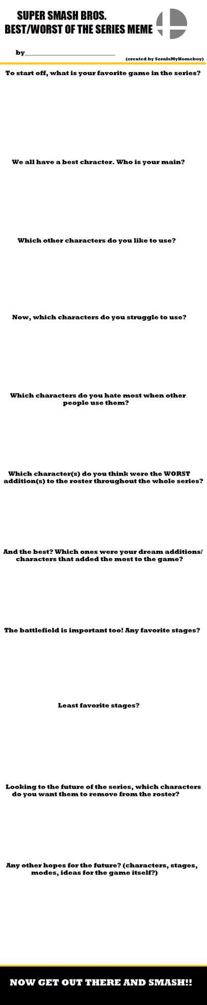 Best/Worst of Smash Bros Meme - Template by GECKO-Nuzlockes