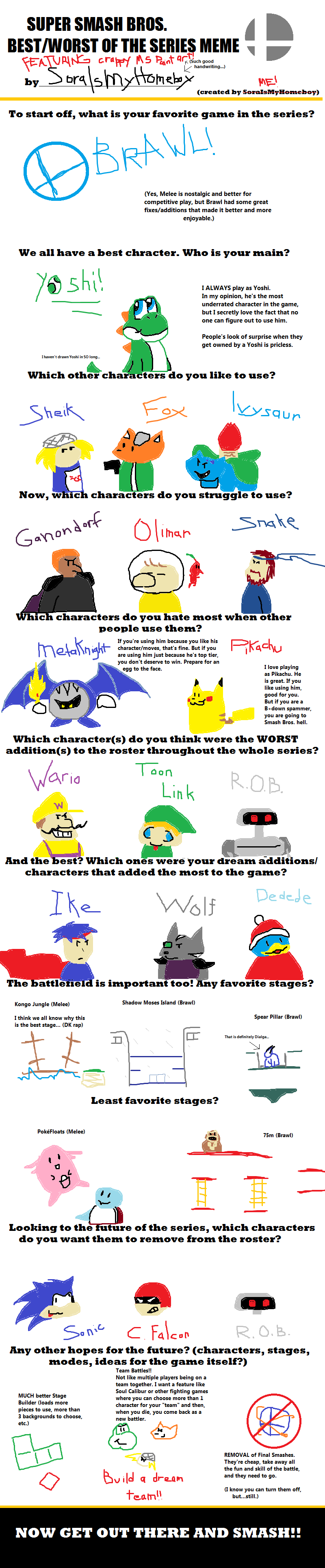 Best/Worst of Smash Bros Meme - OUTDATED by GECKO-Nuzlockes