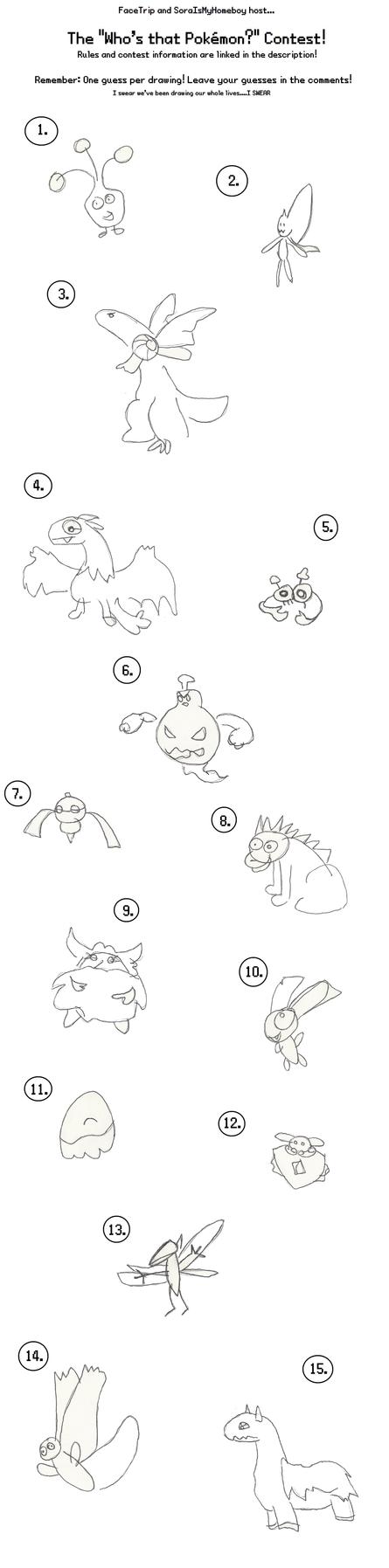 *Who's that Pokemon?* Contest! by GECKO-Nuzlockes