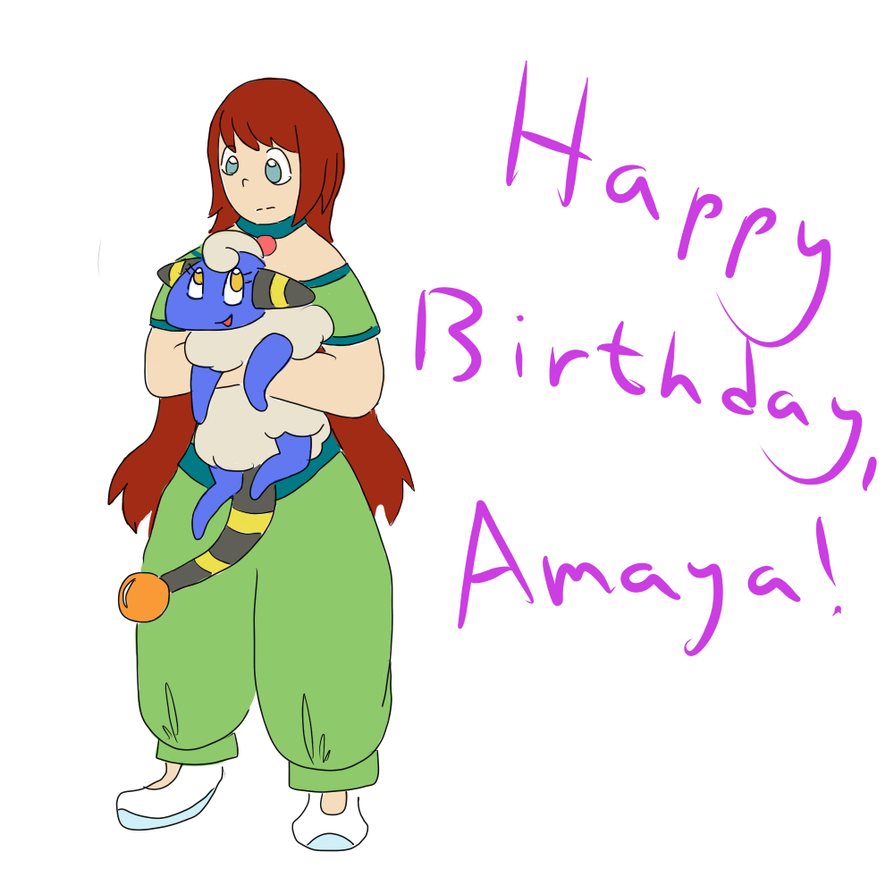 Happy Birthday, Amaya!!! by GECKO-Nuzlockes