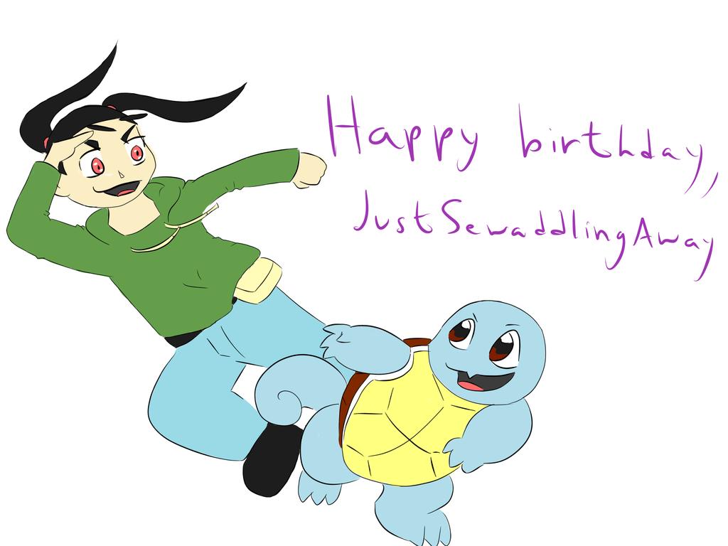 Happy Birthday, JustSewaddlingAway! by GECKO-Nuzlockes