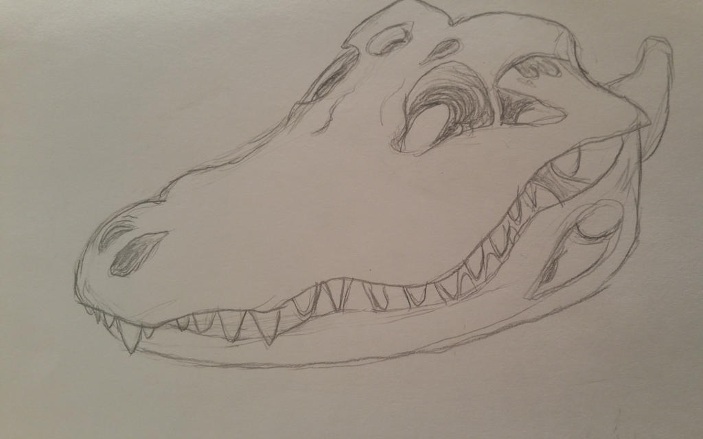 Crocodile Skull by GECKO-Nuzlockes