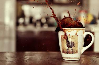 Coffee splash by Justysiak