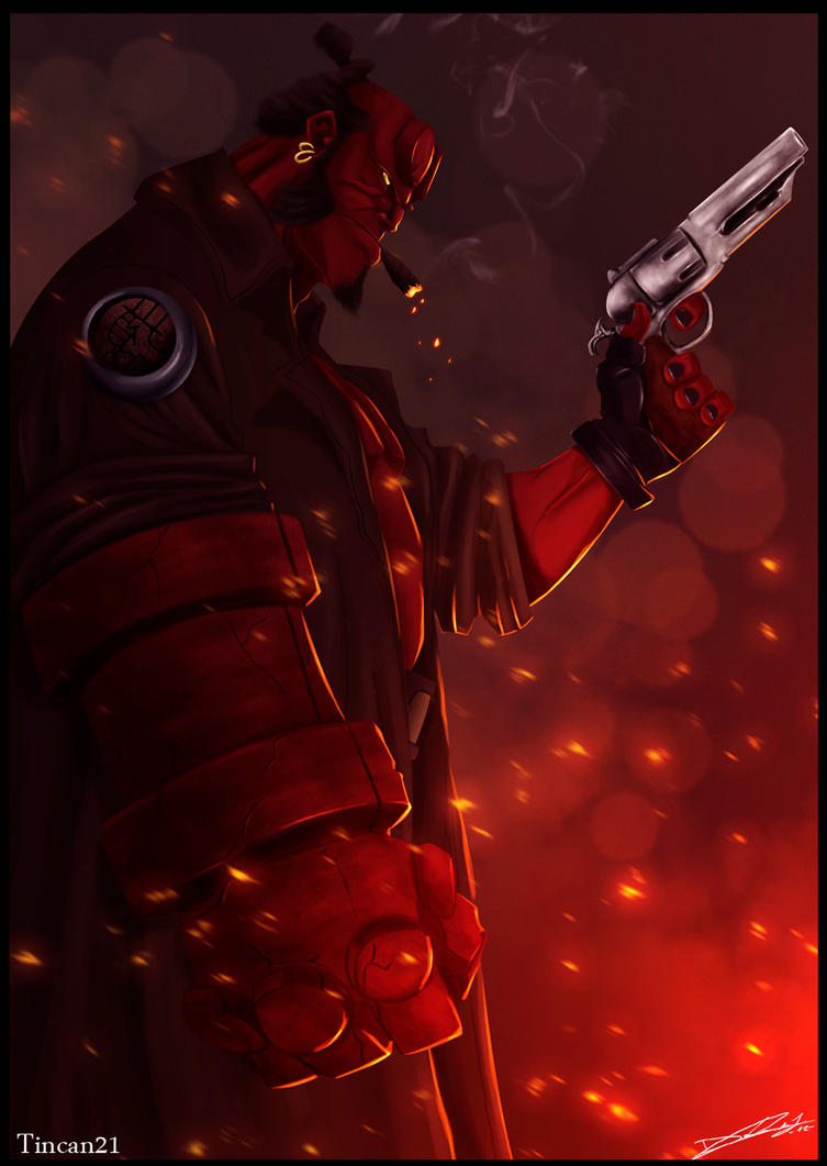 Hellboy by Dldimartiny