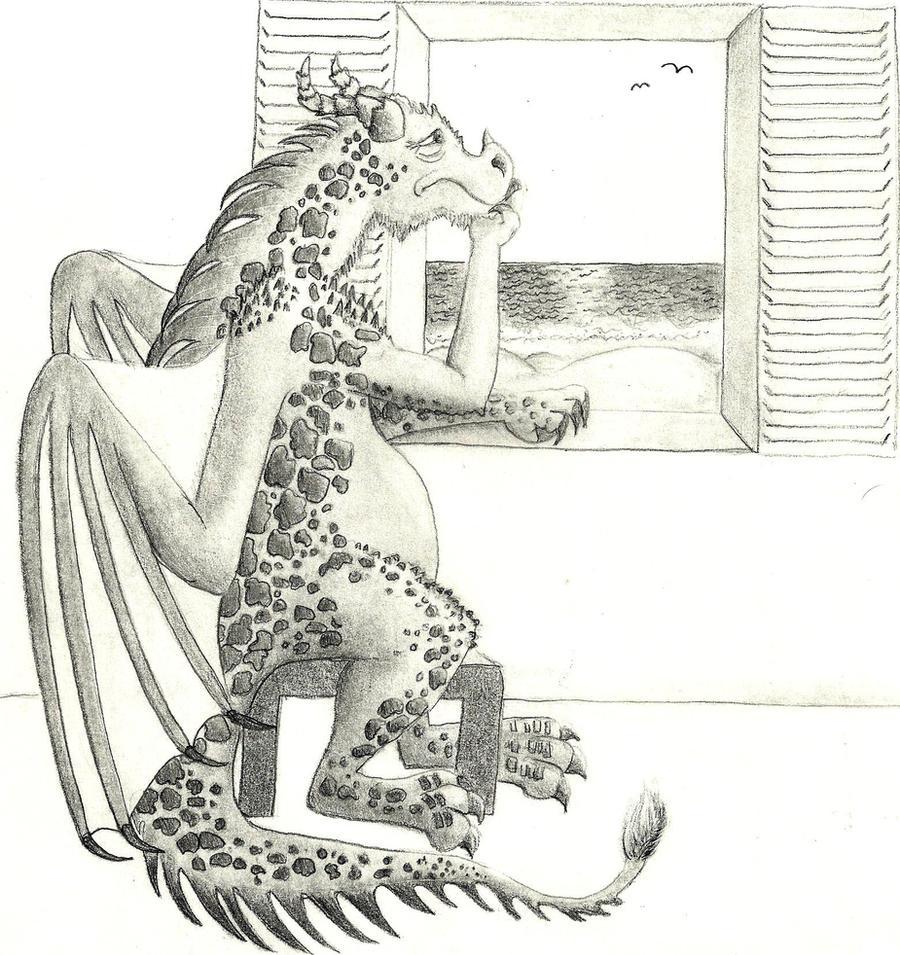 Sad Dragon is Sad by Rakaseth