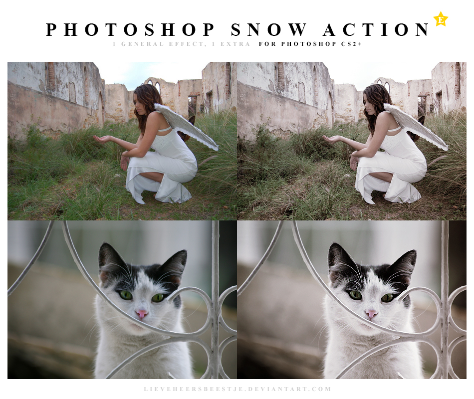 Photoshop Snow Action by lieveheersbeestje