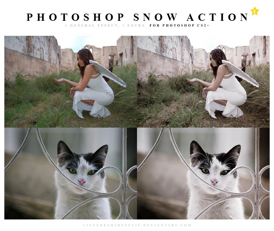 Photoshop Snow Action by lieveheersbeestje