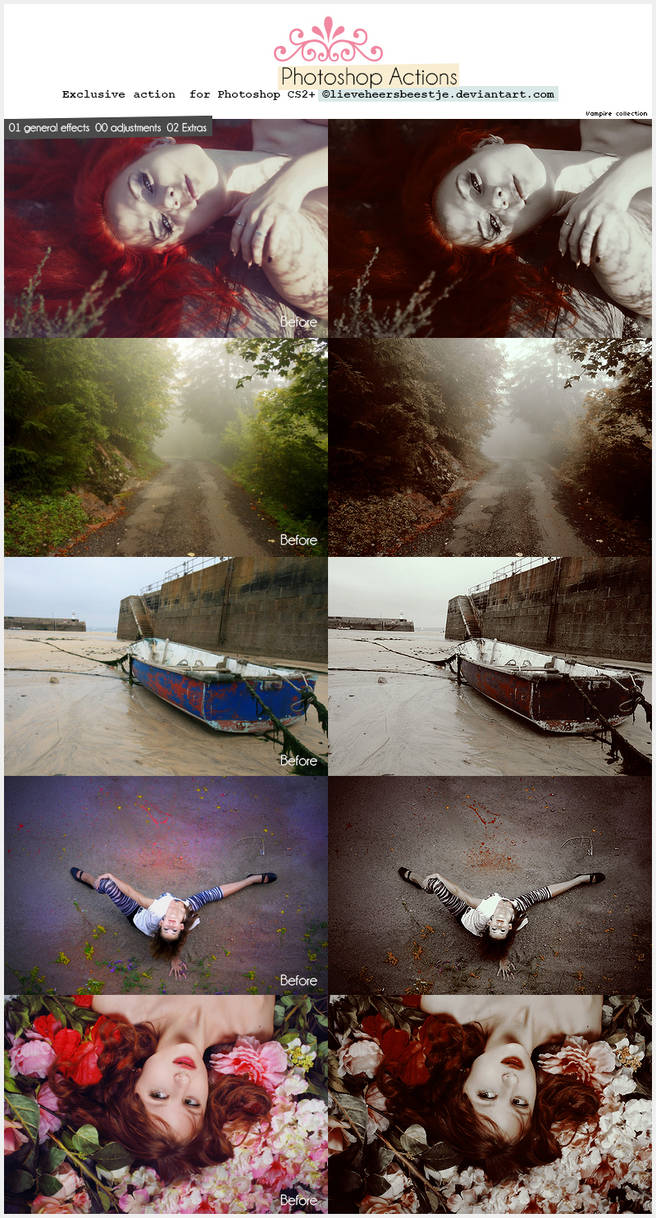 Photoshop Vampire Action by meganjoy