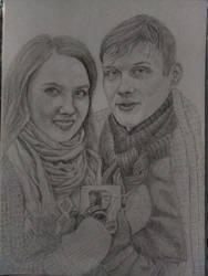 A beautiful couple (Natasha and Vova)
