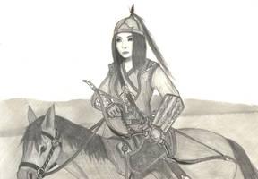 Warriors 10 - Mongol Archer by Gwaylar