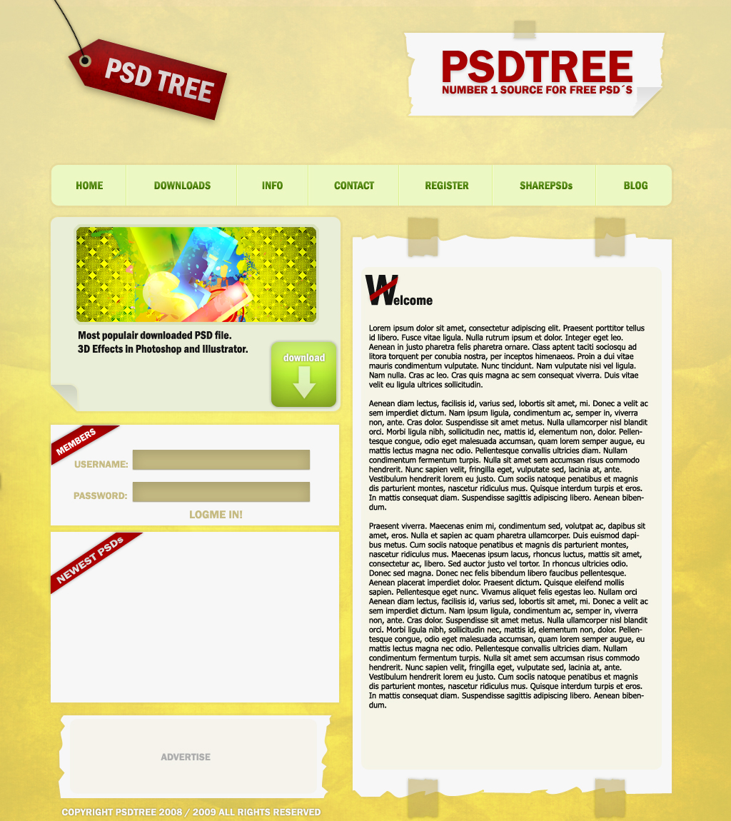 PSD TREE by rAwtec Best of FREE PSD Templates
