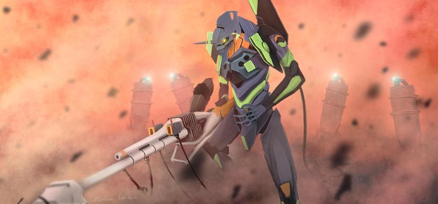 EVA Unit 01 by Murimu