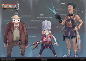 Hair Razors - Support Character Designs