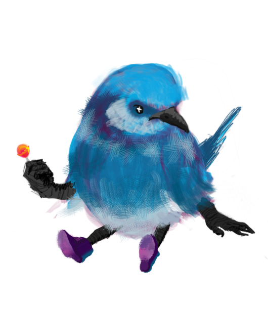 Bird doodle by Possiblyusedmeows