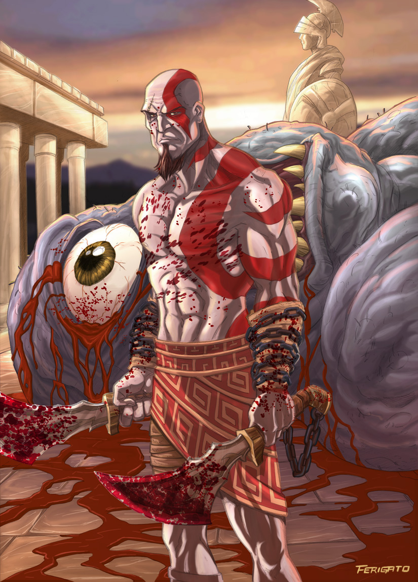 God of war by Ferigato