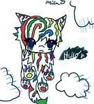 rainbow kitteh says hi by remotekitty