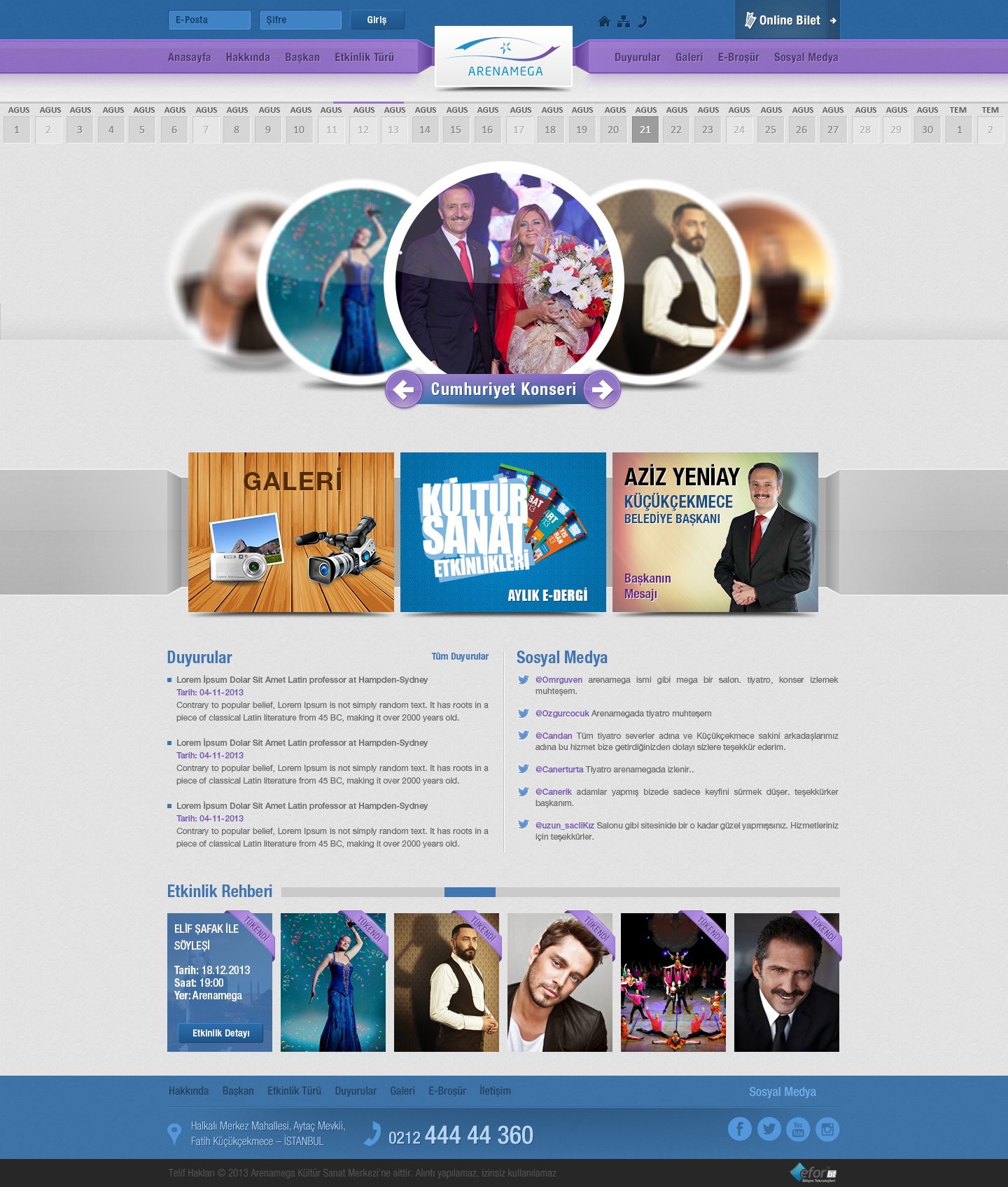 Arenamega Cultural Center Website by omrguven