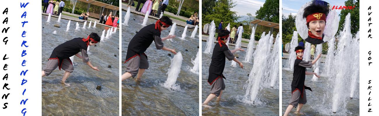 Aang Learns Waterbending by twinfools
