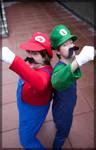 Mario and Luigi- Bro Time by twinfools