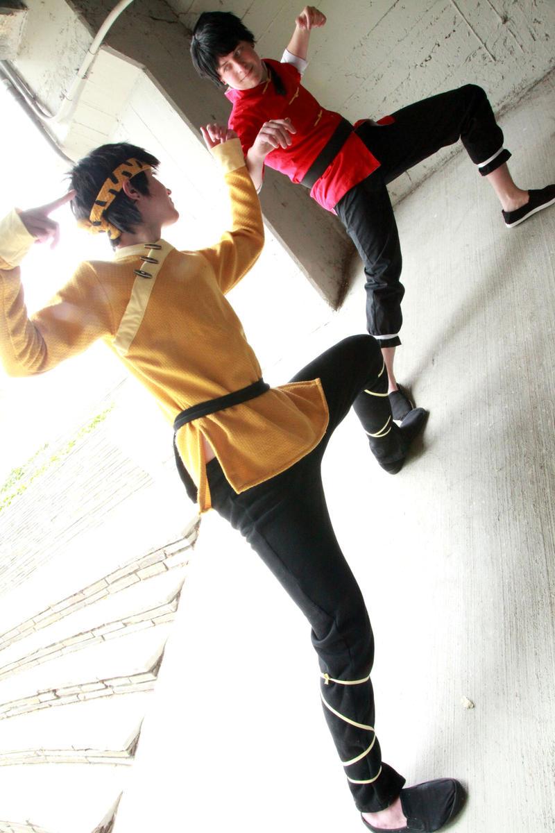 Ranma vs. Ryoga by twinfools