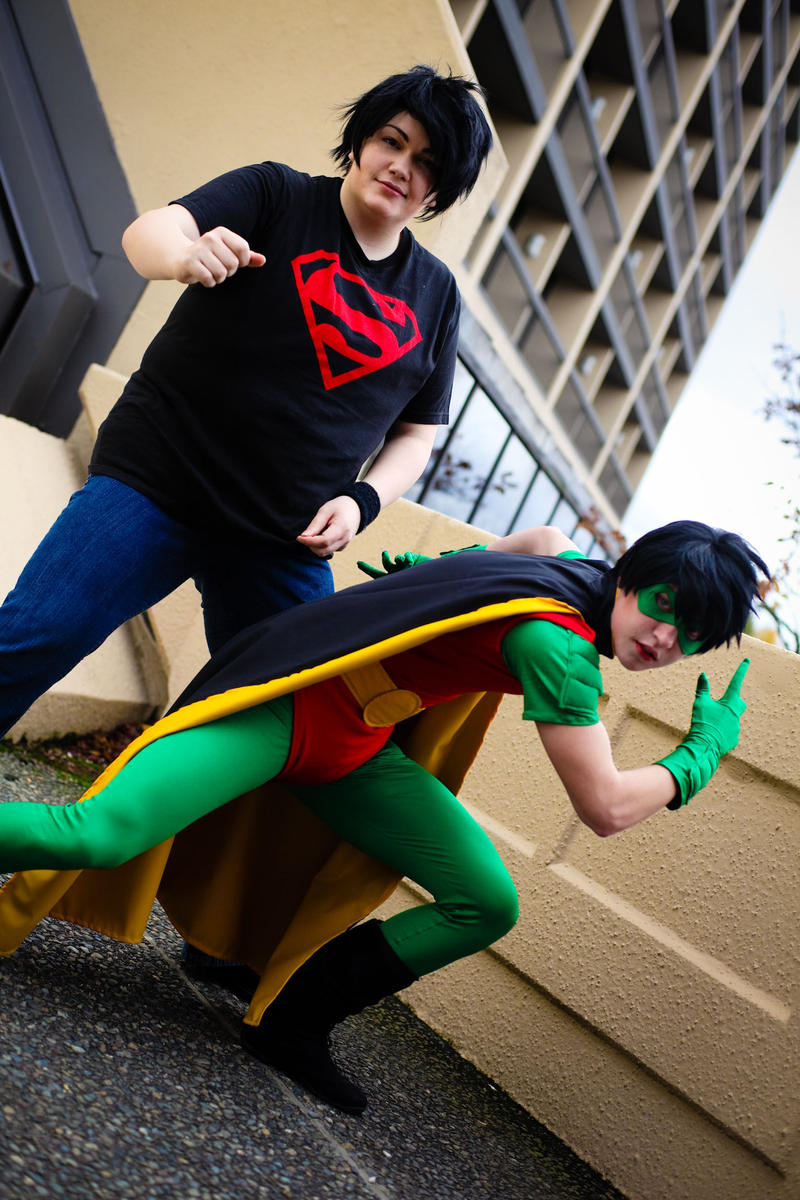Robin and Superboy- Duo by twinfools