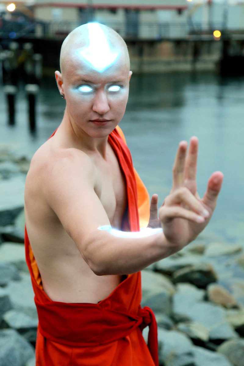 Aang- Avatar State by twinfools