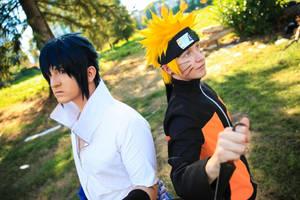 Naruto and Sasuke- Oppositional by twinfools