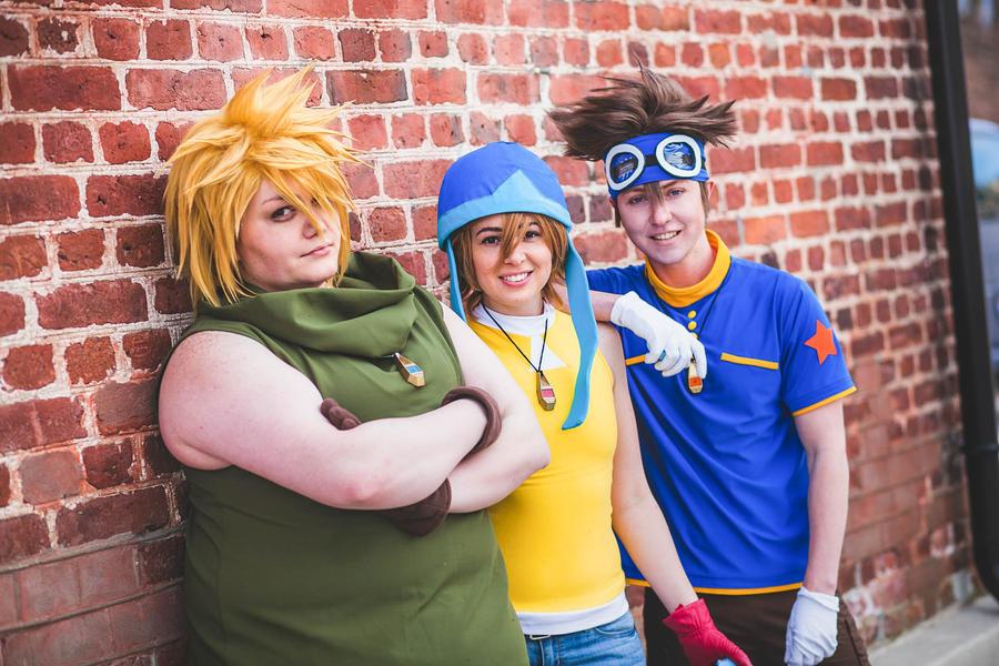 Digimon- Tai, Sora, Matt by twinfools