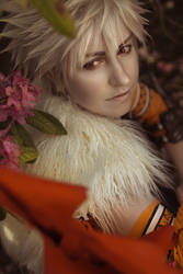 Bakugou- A little bit of floral accent... by twinfools