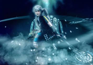Riku- Keyblade Battle  by twinfools