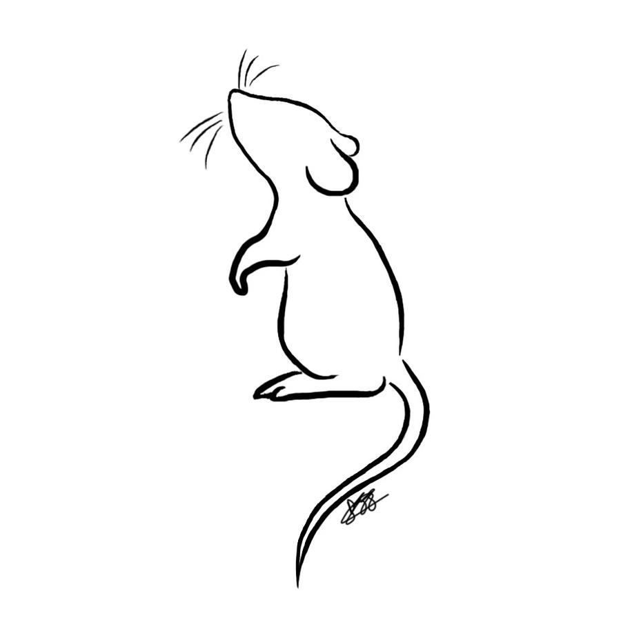 Line Drawing Mouse : Mouse t shirt design by pippy on deviantart