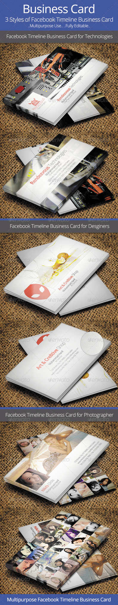 Facebook Timeline Business Card by hanifharoon