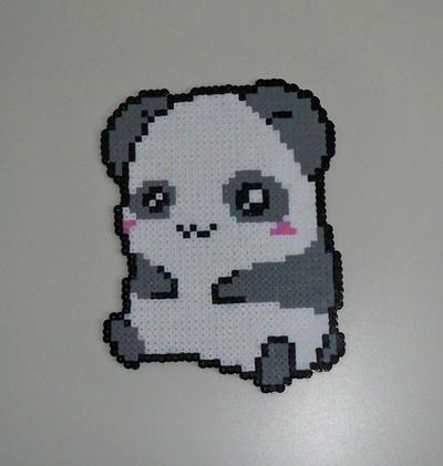 Hama beads panda by AngelLale87