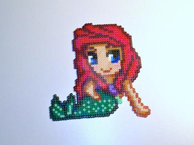Ariel -Perler bead- by AngelLale87